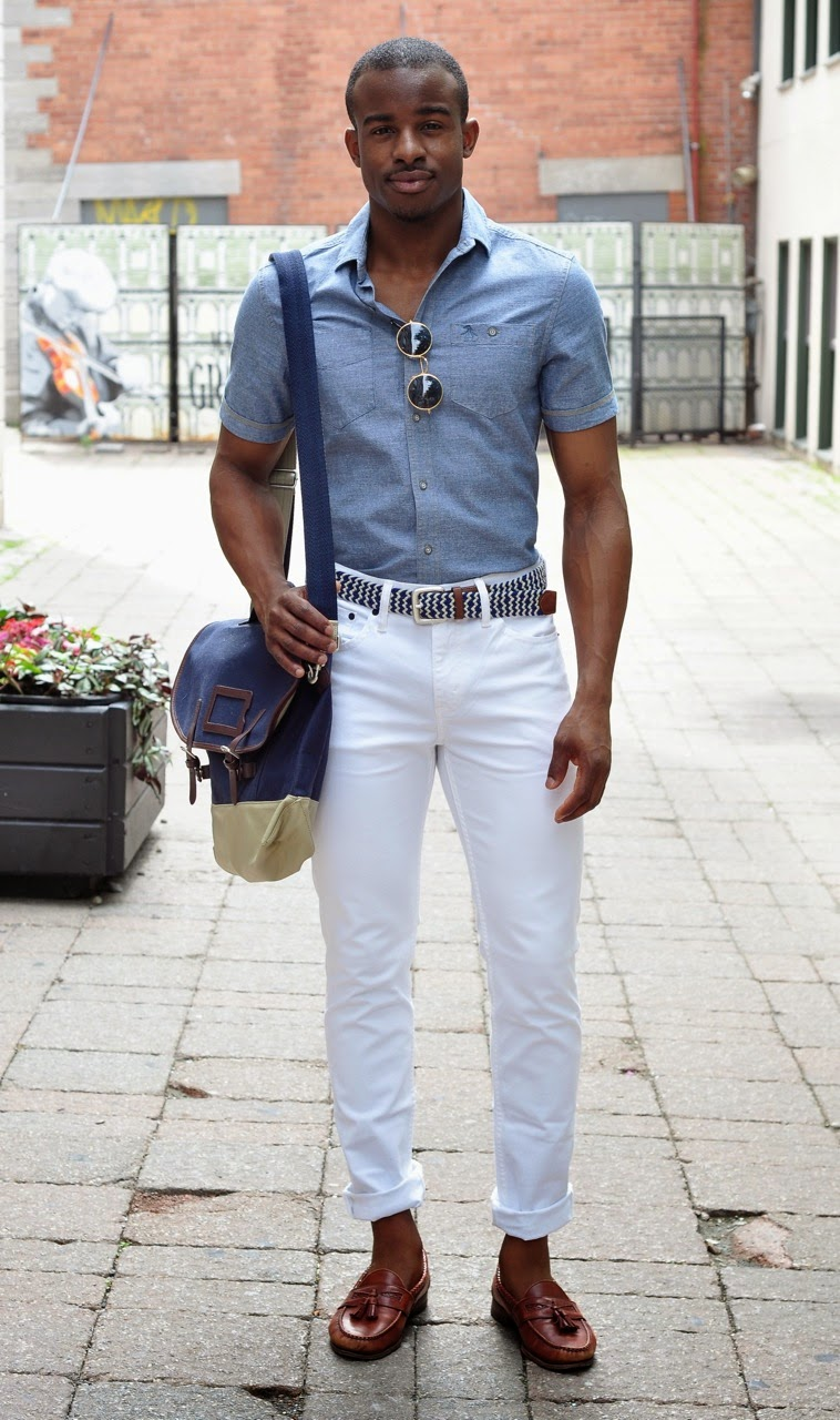 Boys in white pants | FASHION THE BLACK GIRL