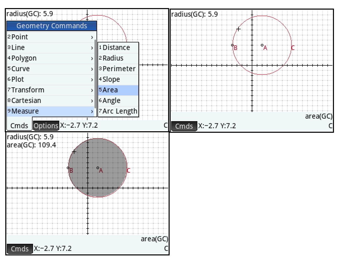 Example: Find The Area Between Curves: That Is Going To Wrap Up Part 1 Of  The Hp Prime Geometry App Tutorial In