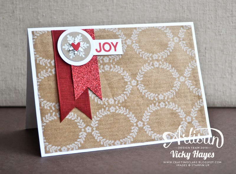 Making Christmas cards with off cuts of your Stampin' Up gift wrap