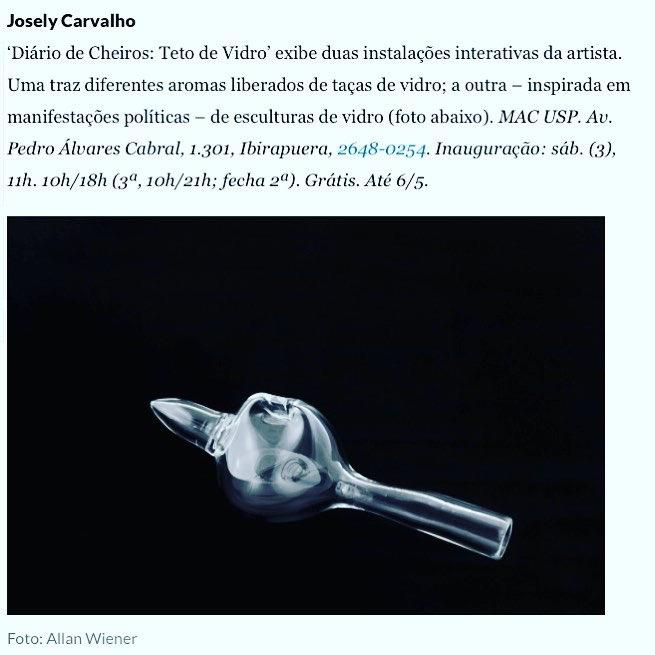 MAC | USP DIÁRIOS DE CHEIROS: TETO DE VIDRO