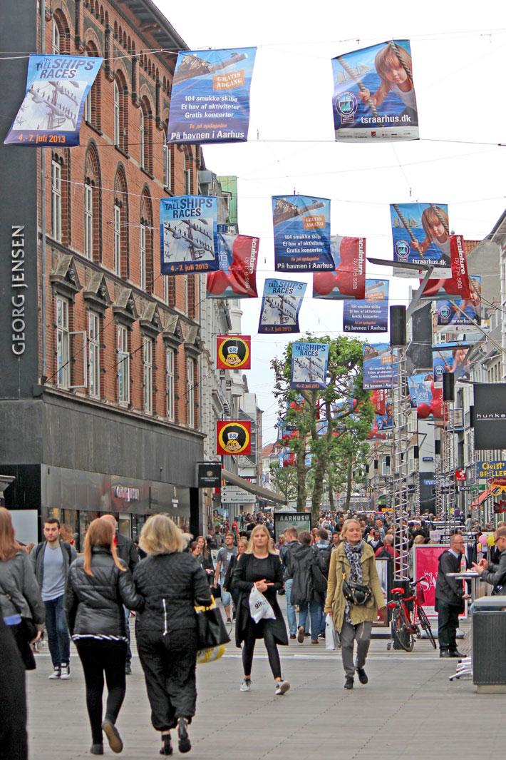 Amalie loves Denmark Städtereise Aarhus Fußgängerzone
