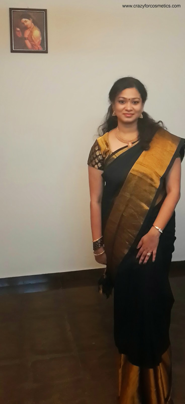 STYLE40   Silk Cotton Saree India-Black silk saree- traditional black silk saree-traditional gold jewelry-South Indian wedding dresses