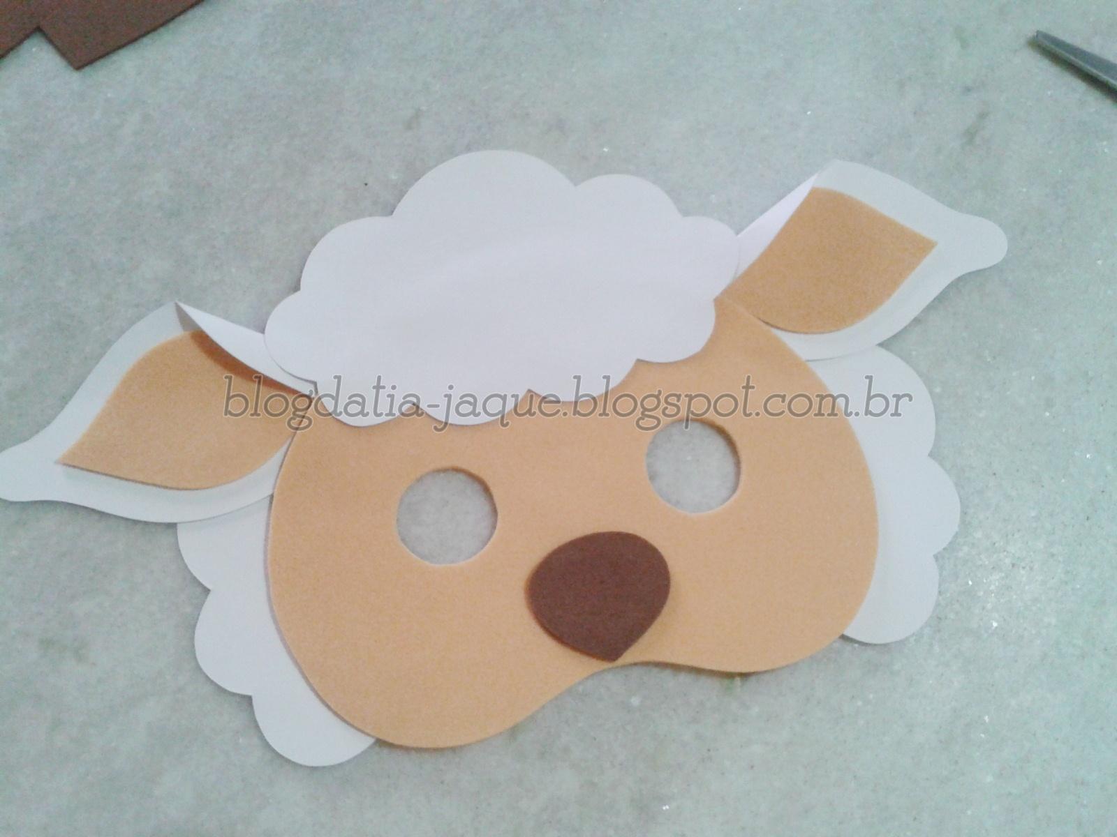 Blog da tia jaque m scara de ovelha em eva com moldes - Material para hacer diademas ...