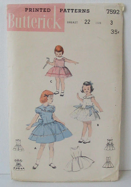 1950s little girl baby pattern dress  vintage  Just Peachy, Darling