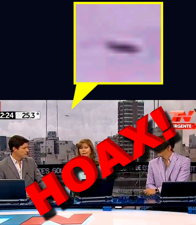 Hoaxed UFO Footage in Argentinian News Broadcast Goes Viral