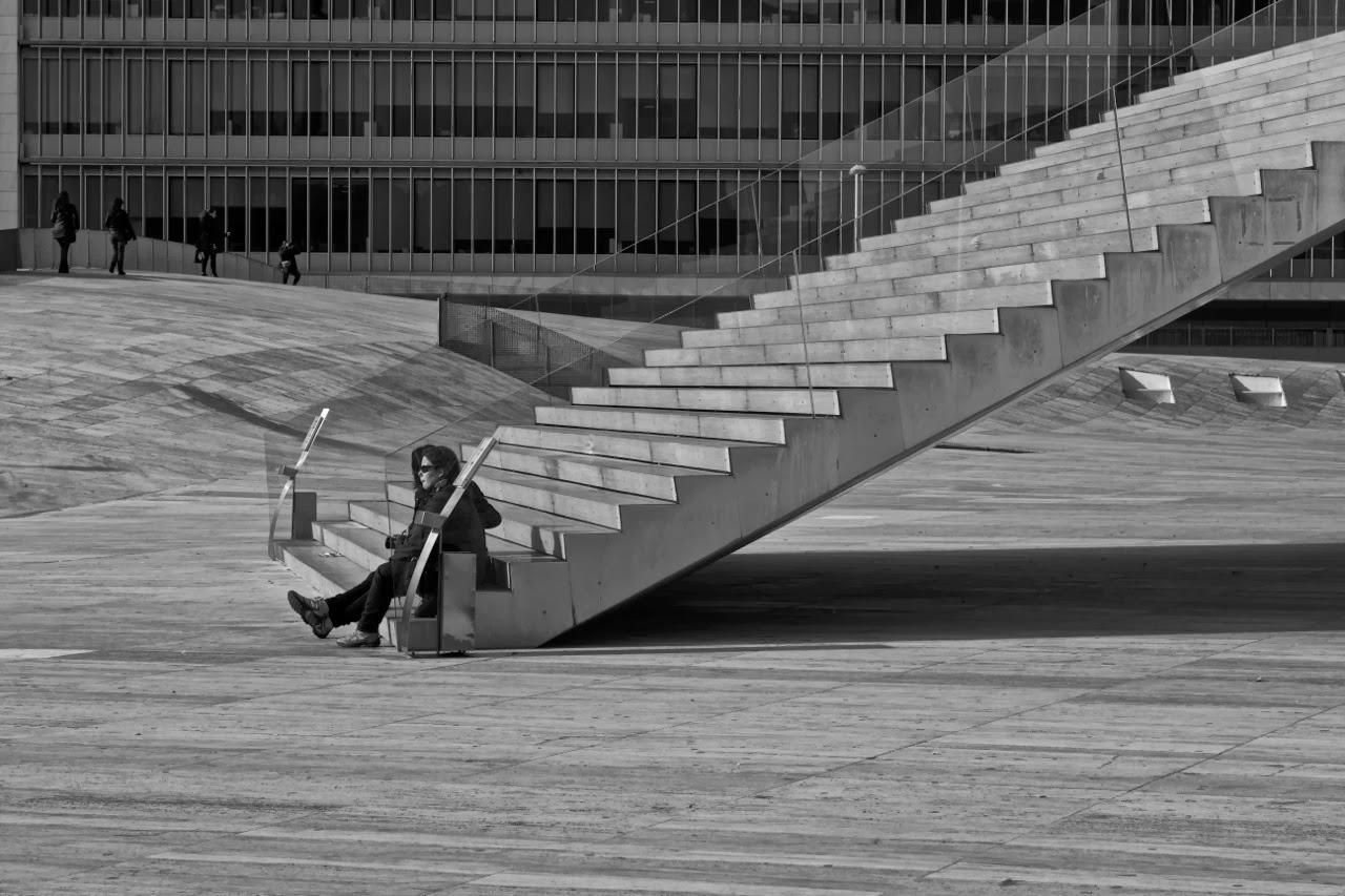 Escadas da Casa da Música no Porto