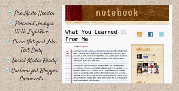 Notebook Template Features