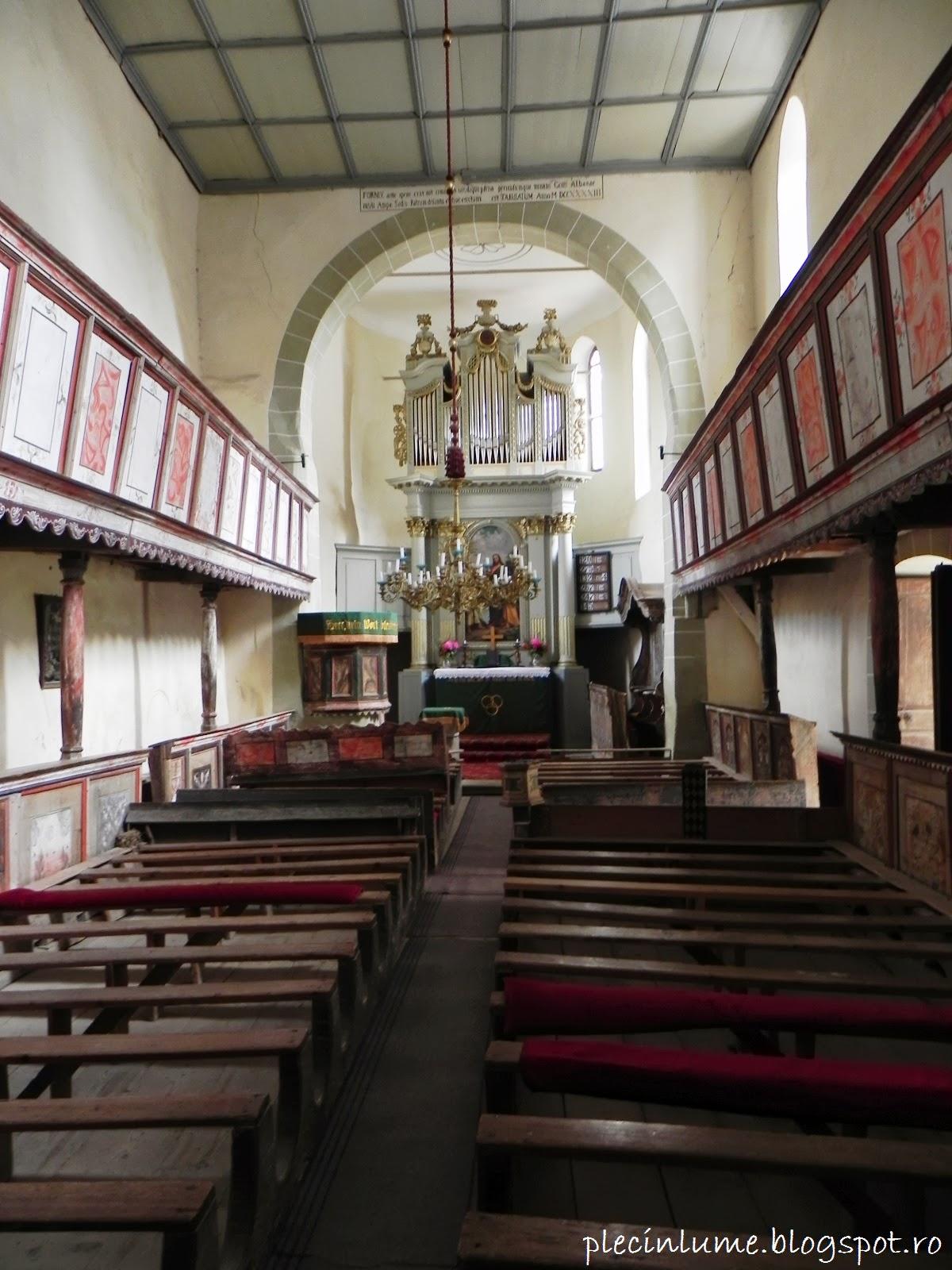 Biserica din Viscri interior