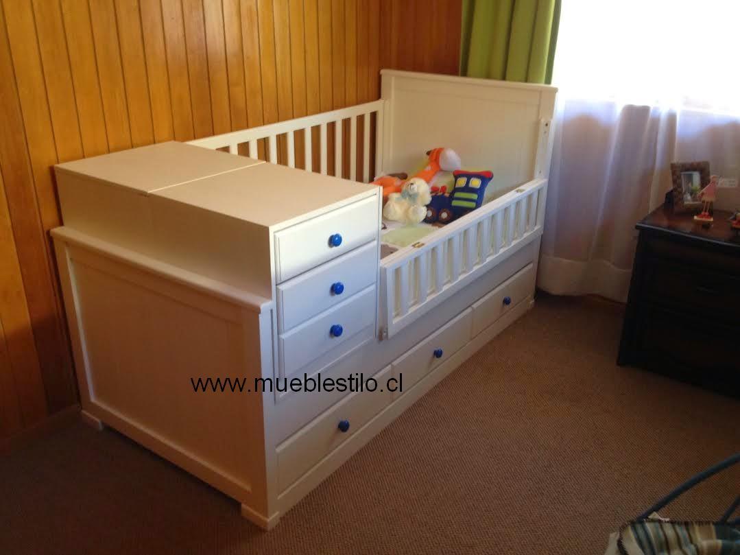 Vistoso Cuna Del Bebé 3 En 1 Muebles Composición - Muebles Para ...
