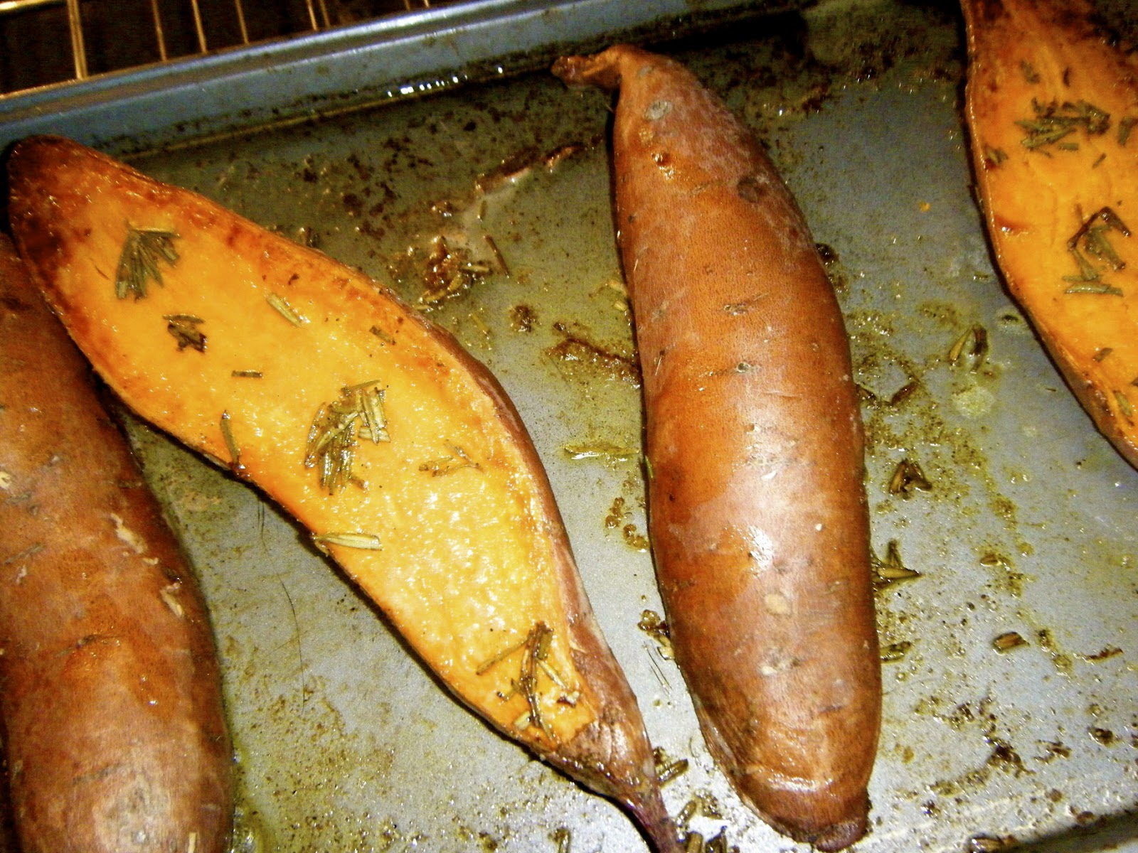 Katie-Kates KitchenBaked Rosemary Sweet Potato Halves