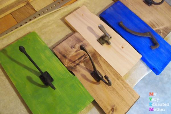 Hooks for a DIY Karate Board Coat Rack