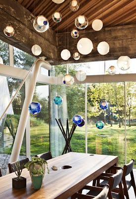 lámpara forma de esfera
