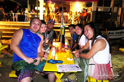 Easgate backpackers enjoying the night life of Puerto Galera