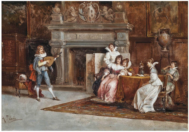 Antonio maria y fabres costa spanish1854 1938 a merry tune oil on