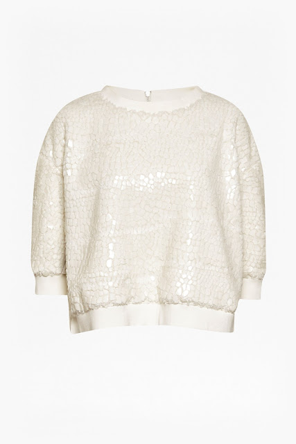french connection white jumper, white sparkly jumper,