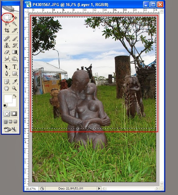 Làm mờ cảnh xung quanh bằng Photoshop