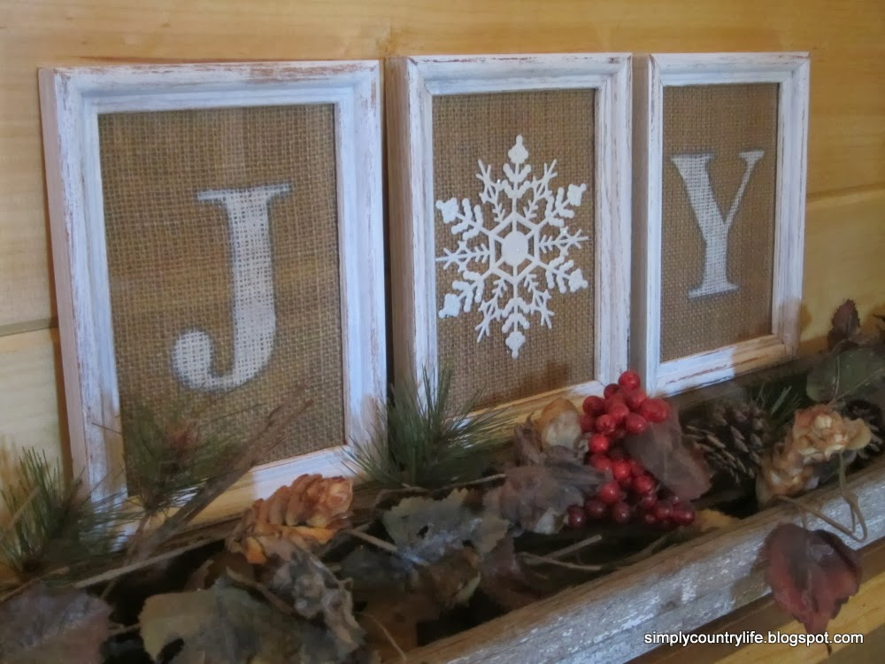 Simply country life burlap and a dollar tree ornament - Decorating ideas using burlap ...