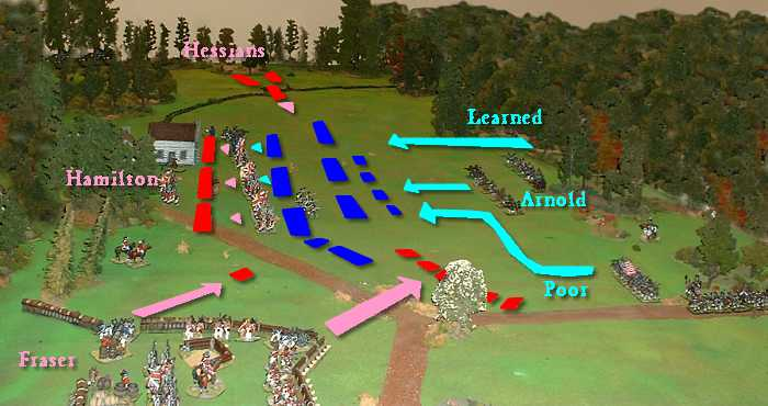 The American Revolution Battle Of Saratoga - Battle of saratoga us maps