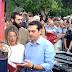 Ο πρόεδρος του ΣΥΡΙΖΑ λίγο πριν από την ομιλία του...