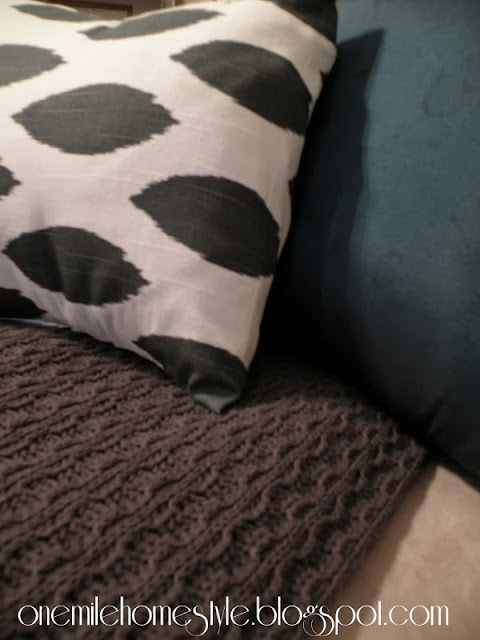 White and Dark Gary covered pillow