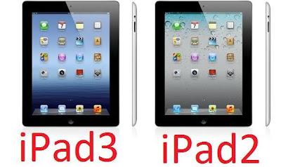 Novo iPad 3 vs iPad 2 especificações