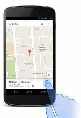 Faster Google Maps Navigation