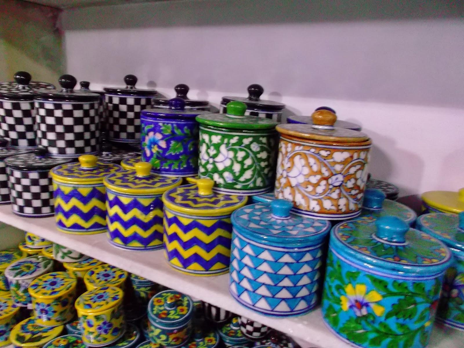 Zig Zag Pattern Bowl - NERYA POTTERY - Jaipur, India DSCF0757