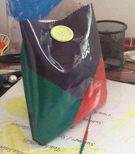 """Niki de Saint Phalle - """"Nanas"""" Inspired  Plastic Bag"""