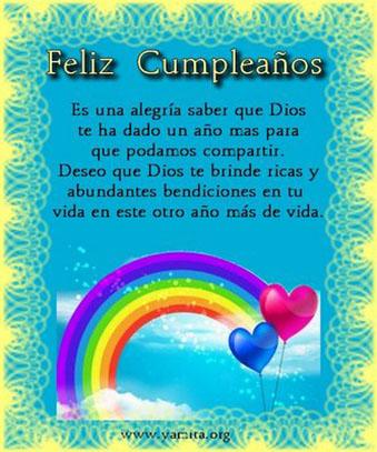 Resultado de imagen para feliz cumpleaños dios te bendiga te llene bendiciones