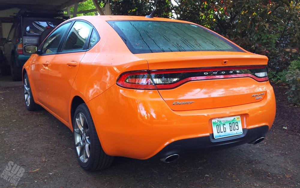 2014 Dodge Dart SXT Rallye Header Orange Rear