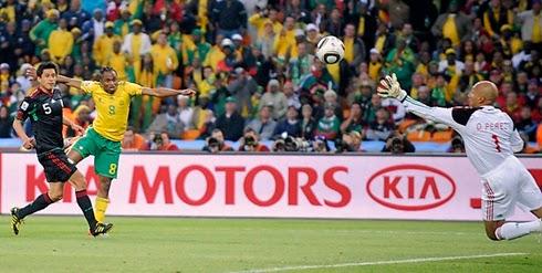 1° gol da copa do mundo 2010, Africa do Sul e México.
