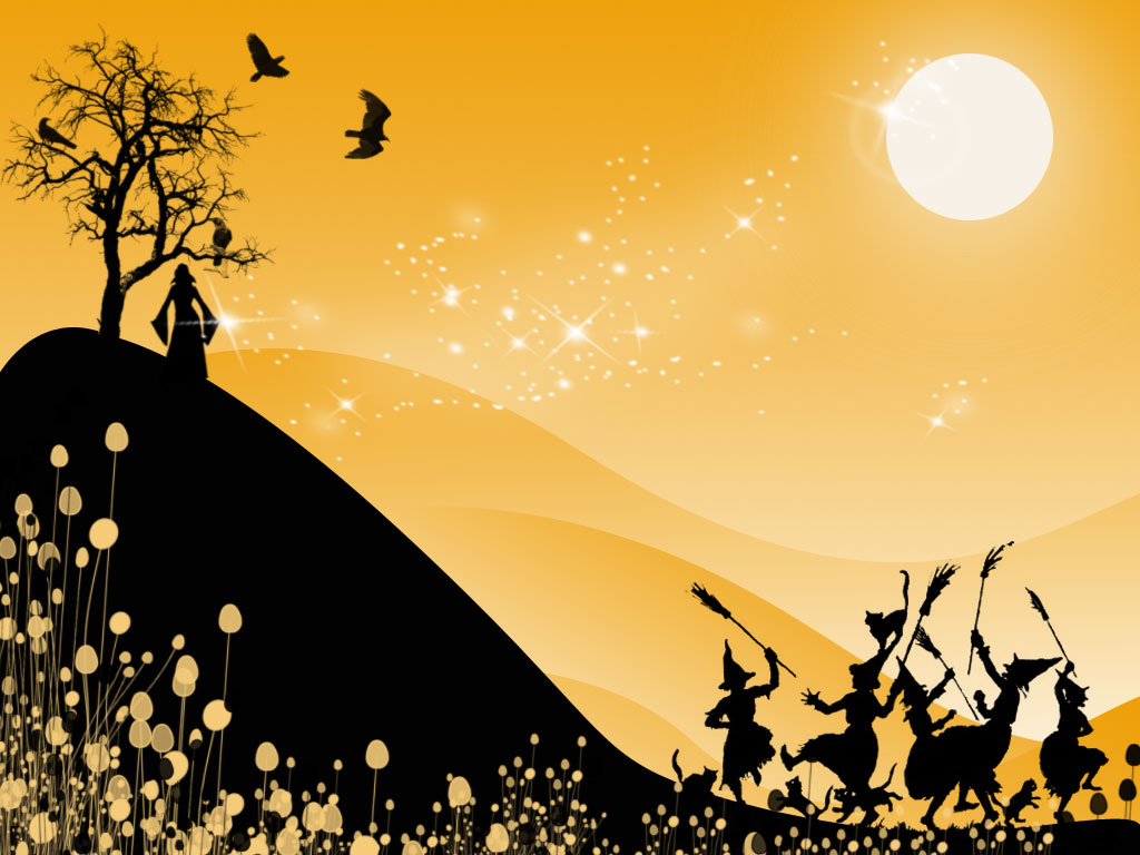 Free+Halloween+PowerPoint+Background+%283%29 Halloween Wallpaper - Moon, Pumpkins and Witch