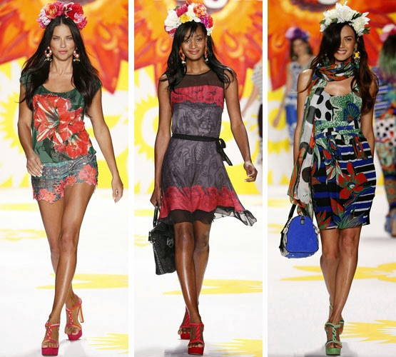 Desigual colección primavera verano 2015 en la pasarela Mercedes Benz Fashion Week New York