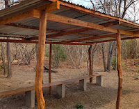 New Softball field dugouts built with materials provided by KIRF in December 2012.