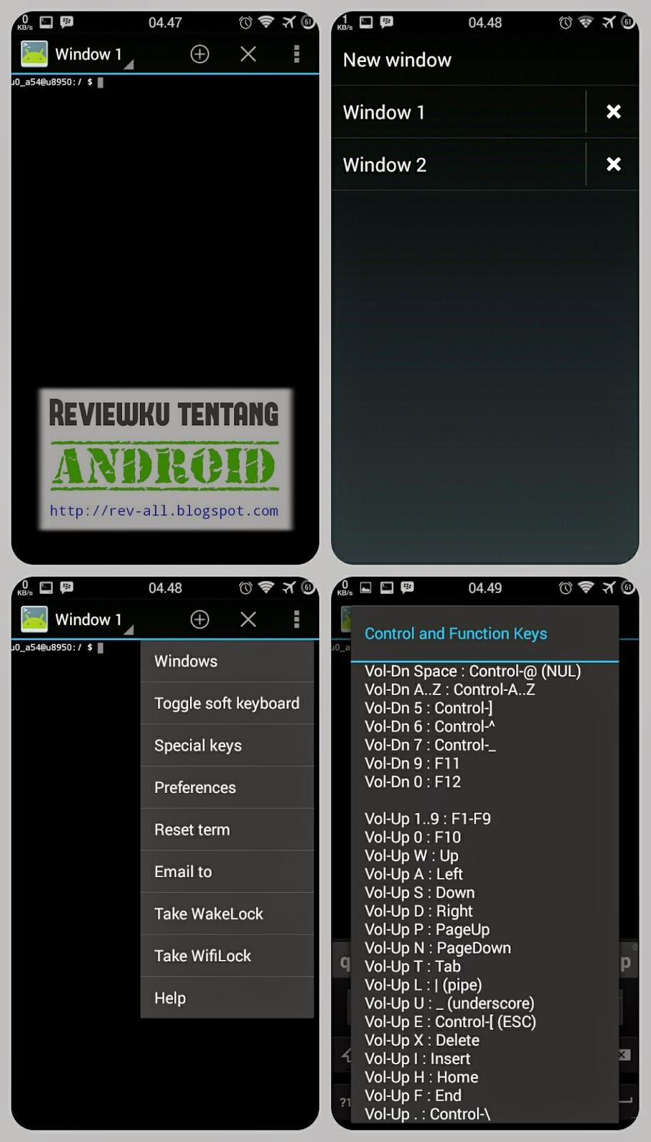 Tampilan Emulator - aplikasi emulator untuk android agar dapat melakan perintah seperti di command prompt windows (rev-all.blogspot.com)