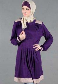 Manet Blus - 4313 Ungu Tua (Toko Jilbab dan Busana Muslimah Terbaru)