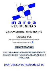 Manifestación por la Dignidad de mayores y trabajadores en las residencias