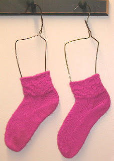 My first pair of hand knit socks!