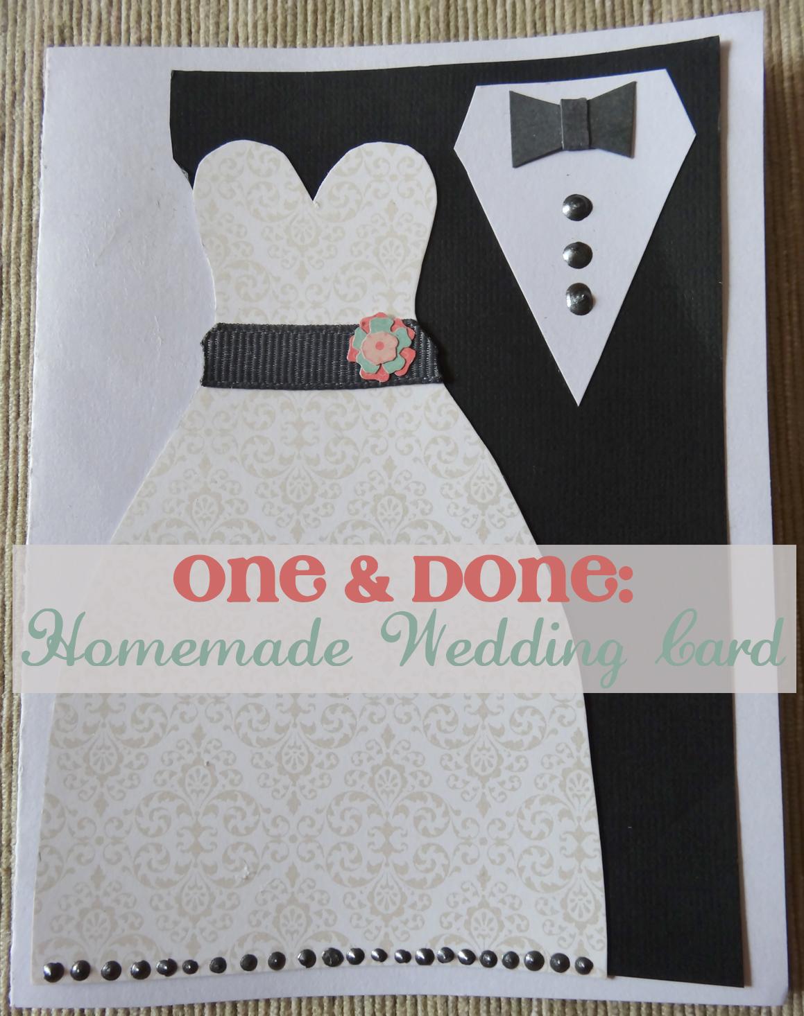 The Doeblerghini Bunch One Done Homemade Wedding Card