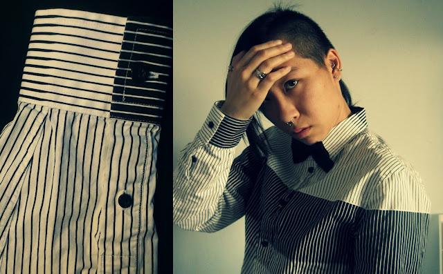 DESIGN DETAIL: gradiant striped shirt