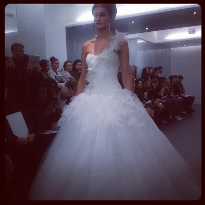 Lace wedding dress by Vera Wang
