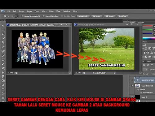 Pindahkan gambar dari lembar 1 ke lembar 2