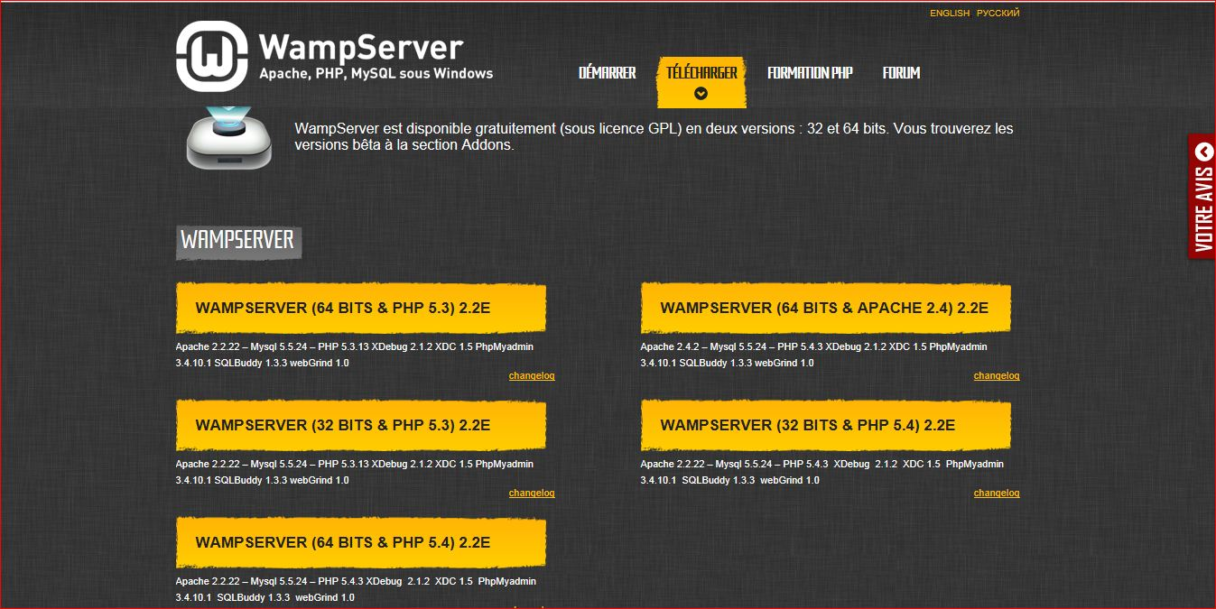 Apache PHP5 MySQL database PHPmyadmin and SQLitemanager