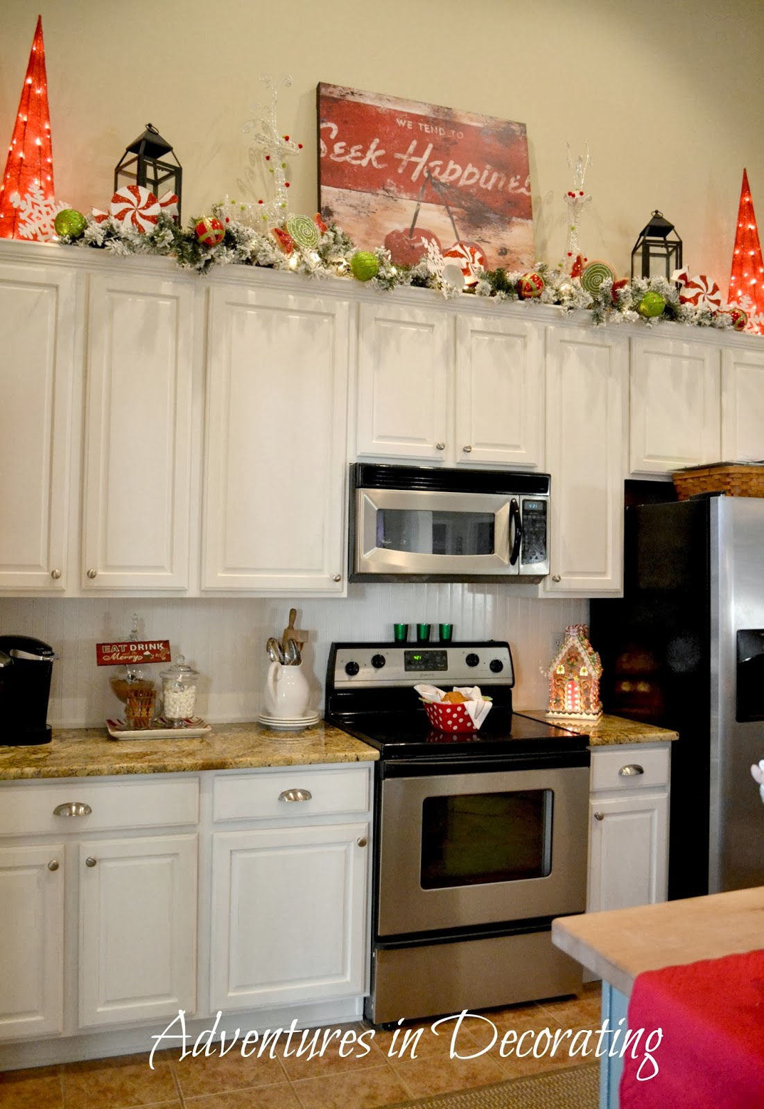 Adventures in decorating our christmas great room and for Kitchen great room