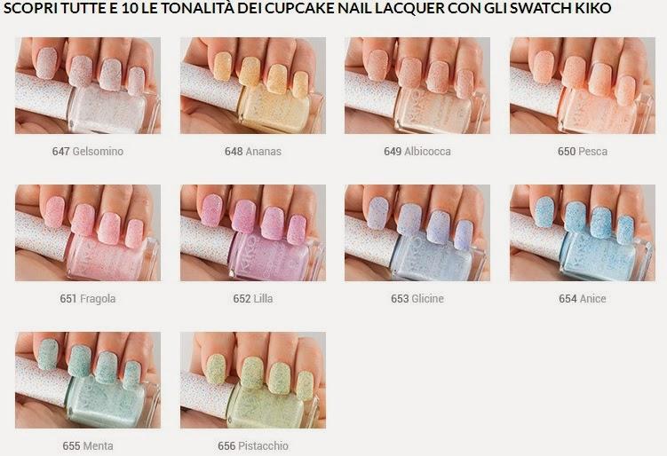 KIKO - Cupcake Nail Lacquer - swatches