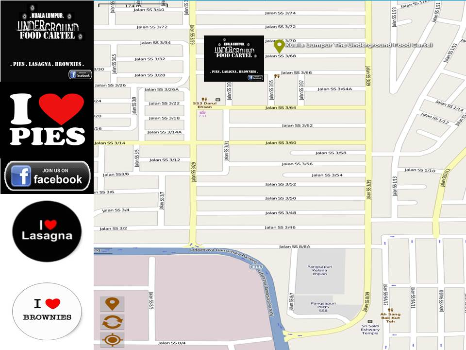 You Are Welcome To Collect Your Orders At Our Hq At Jalan Ss3 68 Taman University Petaling Jaya Kuala Lumpur As You Can See On The Map Above