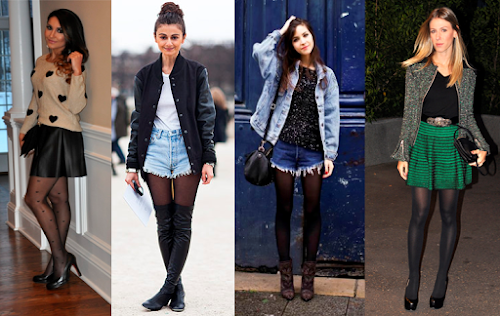 Inspirações de Look-s para usar com Meia Calça Preta !
