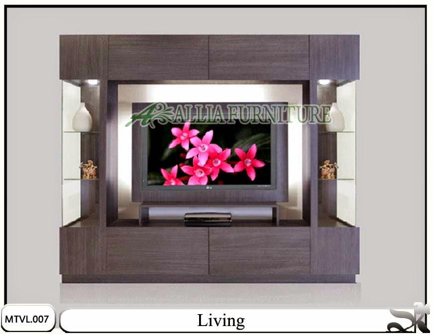 Lemari tv lcd desain minimalis living