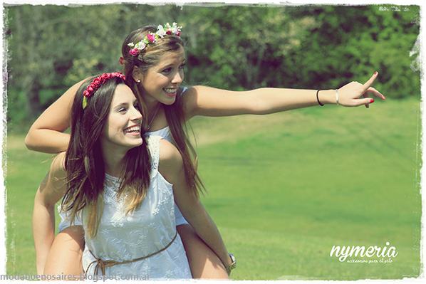 Vinchas con flores 2014. Accesorios de Moda 2014. Nymeria primavera verano 2014.