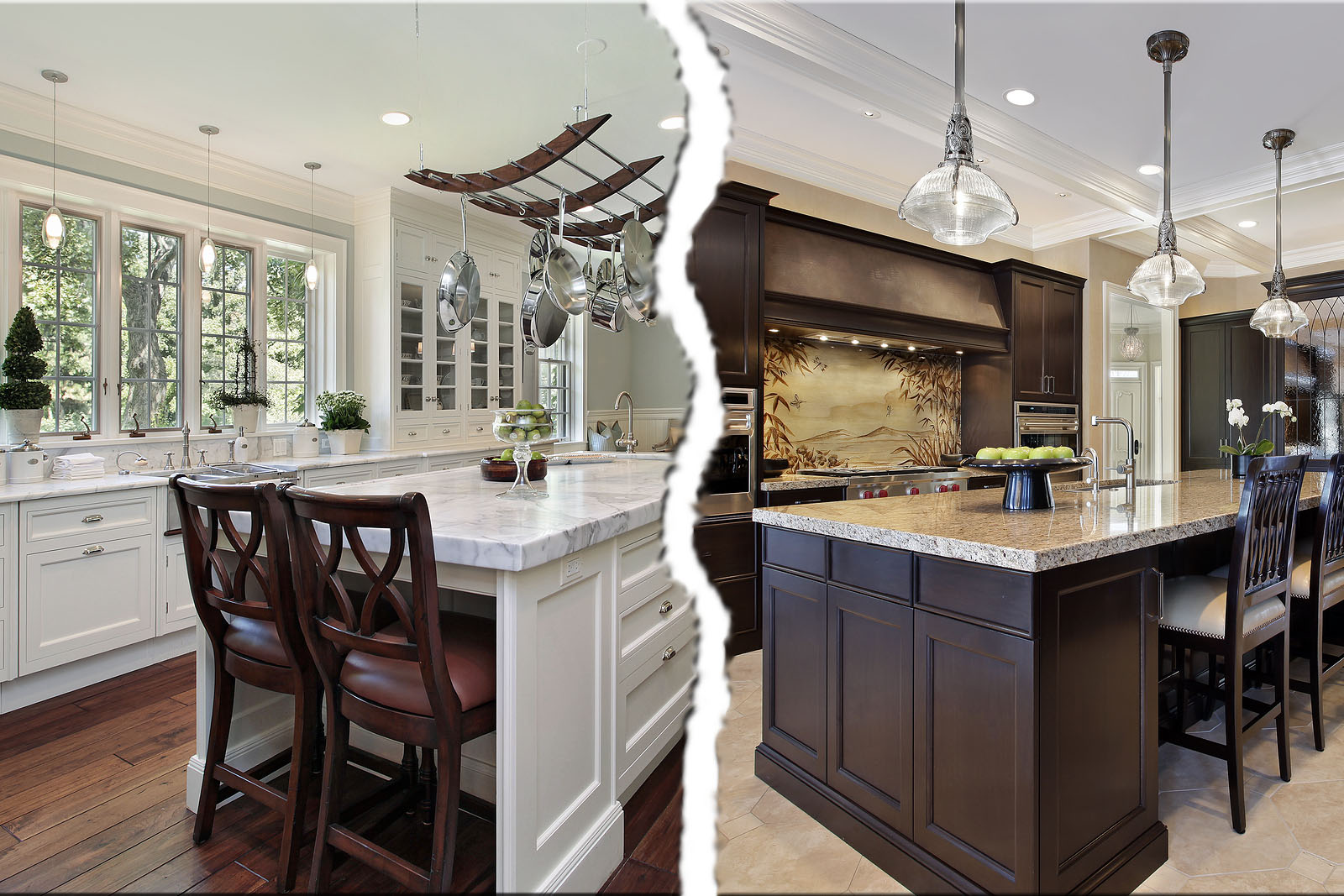 White Kitchen Vs Dark Kitchen fresh coat of paint: light vs dark kitchens